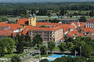 Osijek City in Osijek-Baranja, Croatia