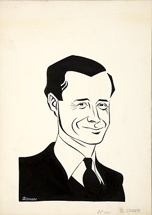 Duncan Sandys - Duncan Sandys, publicity caricature produced by the British Ministry of Information during World War II.