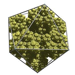 N-flake - Image: Icosaedron fractal