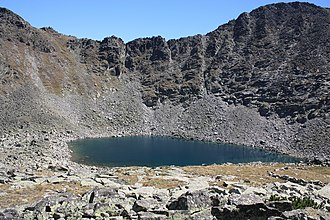 Moraine - Moraines around the Icy lake (2709 m.), just below Musala peak (2925 m.) in Rila Mountain, Bulgaria