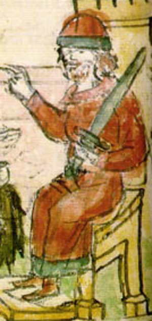 Igor of Kiev - Ingvar the Rus. Illumination from the Radziwiłł Chronicle