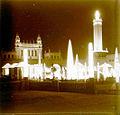 Il·luminació nocturna de l'antiga Plaça de la Mecànica de Montjuïc.jpg