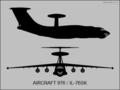 Ilyushin Izdeliye-976 (Il-76SK) two-view silhouette.png