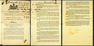 "Government of India Act 1858 - The proclamation to the ""Princes, Chiefs, and People of India,"" issued by Queen Victoria on November 1, 1858."