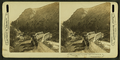 In the Gardiner River Canyon, Eagle's Nest Rock on left, Yellowstone Park, by H.C. White Co. 2.png