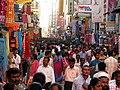 India - Chennai - busy T. Nagar market 2 (3059483658).jpg