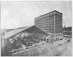 Indianapolis streetcar strike of 1913 - Image: Indianapolis Traction and Terminal Company's Terminal Complex