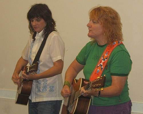 Indigo Girls performing in 2005. Indigo Girls 2005 01.jpg