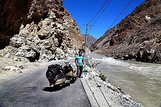 Batalik - Road and River near Dah village