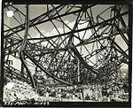 Interior damage to steel frame of Honkawa Grammar School Auditorium, Hiroshima.jpg