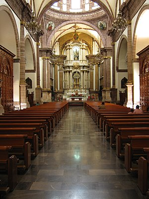 Immaculate Conception Cathedral, Zamora de Hidalgo - Internal view