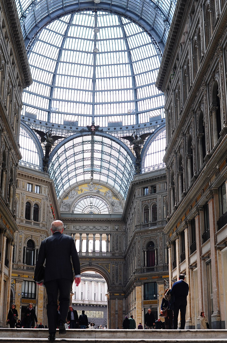 Interior of Galleria Umberto I. Naples, Campania, Italy, South Europe