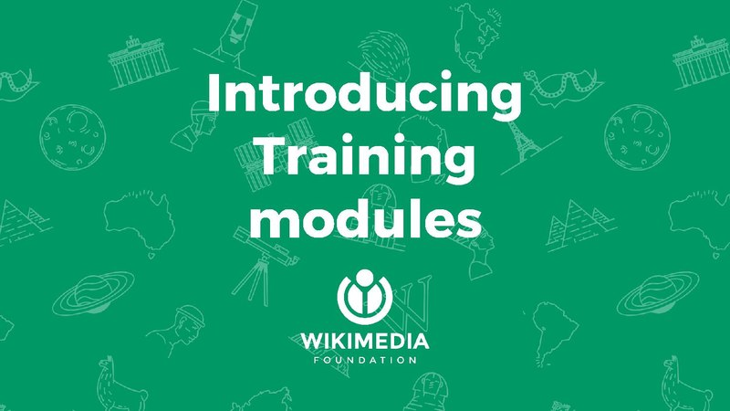 File:Introducing Training modules - Wikimania 2017 presentation.pdf