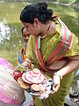 Inviting Goddess Ganga - Hindu Sacred Thread Ceremony - Simurali 2009-04-05 4050059.JPG