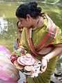 Inviting Goddess Ganga - Hindu Sacred Thread Ceremony - Simurali 2009-04-05 4050059.JPG