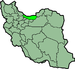 موقعیت استان مازندران در ایران.
