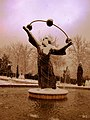Iran - Tehran - Aboureyhan Birouni's Statue in snow - (Information in page 1) - panoramio.jpg