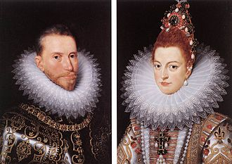 Albert VII, Archduke of Austria - Albert and Isabella Clara Eugenia, by an anonymous 17th century master, after originals by Frans Pourbus the younger.