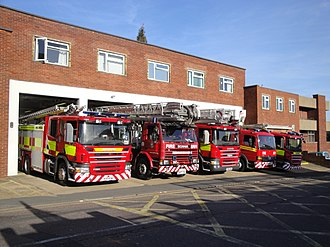 Isle of Wight Fire and Rescue Service - Various Fire Service Vehicles outside Newport station