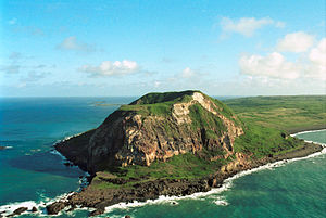 Iwo Jima - Mount Suribachi on Iwo Jima.