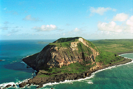 Mount Suribachi is the dominant geographical feature of the island of Iwo Jima - Raising the Flag on Iwo Jima