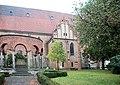 Jüterbog, war memorial world war I and Saint Nicholas church.JPG