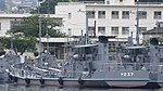 JMSDF YO-37 left rear view at Kure Naval Base May 6, 2018 01.jpg