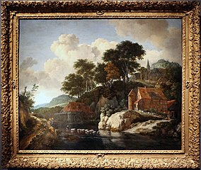 Hilly Landscape with a Watermill, ca. 1670