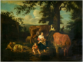 Jacob van der Does I (attr.) - Mother and Child with Cattle in Landscape.tiff