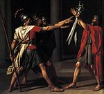 Jacques-Louis David - The Oath of the Horatii (detail) - WGA6054.jpg