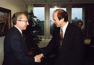 Janez Drnovšek - Drnovšek with Jacques Delors in 1989