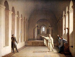 Jacques de Molay, grand maître des Templiers by Fleury-François Richard
