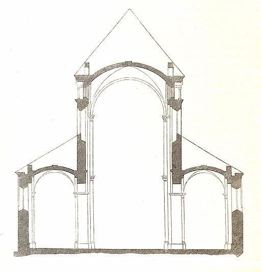 Jahrbuch MZK Band 03 - Gewölbesystem - Fig 24a Queransicht Dom zu Speyer