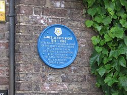 Photo of James Alfred Wight blue plaque