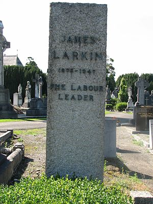 James Larkin - Larkin's gravestone in Glasnevin Cemetery