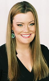 Headshot of Jamie Kern of Big Brother 1, wearing a black blouse