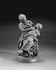 Mère avec Enfant, sur un banc
