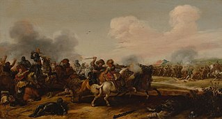 Cavalry Battle Between Dutch and Spanish Troops