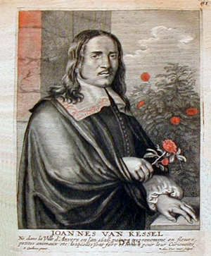Jan van Kessel the Elder - Jan van Kessel in Cornelis de Bie's Het Gulden Cabinet