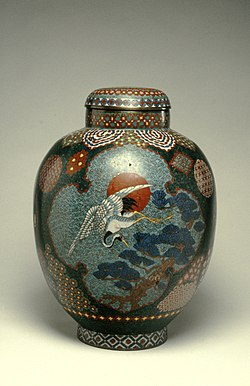 Japanese - Covered Jar with Crane - Walters 44539 (2).jpg
