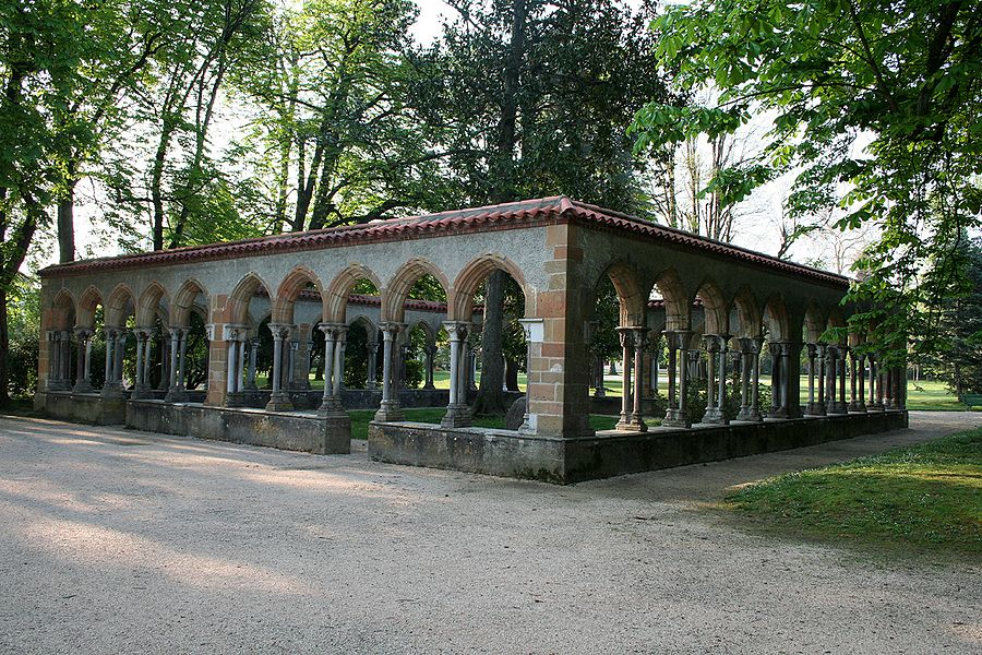 Cloister of the Saint-Sever-de-Rustan abbey, now in the Jardin Massey of Tarbes (Hautes-Pyrénées, France)