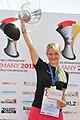 Jasmina Keber winning the speed badminton World Championships 2013.jpg