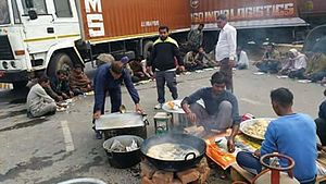 Jat reservation agitation - Jats provided free food to those stuck because of the blockades