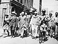 Jawaharlal Nehru, Vice-President of the Interim Government of India, visiting the riot affected city of Multan, in undivided Punjab along with Dr Gopichand Bhargava, the Chief Minister of Punjab.jpg