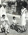 Jawaharlal Nehru with Indira, Rajiv and Sanjay Gandhi at Teen Murti House (01).jpg