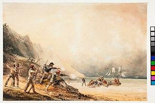 Salakuljettajain ja merisotilaiden taistelu