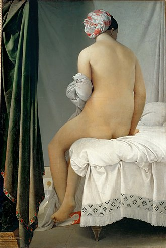 Jean-Auguste-Dominique Ingres - The Grande Baigneuse, also called The Valpinçon Bather (1808), Louvre