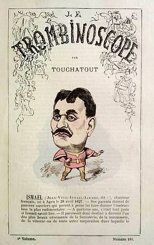 Jean-Vital Jammes - Caricature of Ismaël Le Trombinoscope, 1877