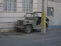 Jeep parked near street lamp - Qavvami ave - Nishapur 2.JPG