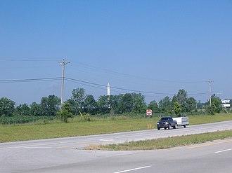 Jefferson Davis State Historic Site - Image: Jeff Davis KY monument distant